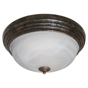 13W LED Decorative Marbled Glass Brushed Rust Overhead Light 3000K