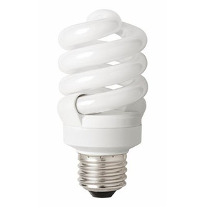 TCP 48923SS41K 23W CFL Spiral Light Bulb Shatter Coat 4100K