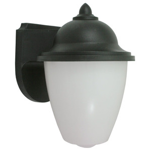11W LED Black Impact Resistant Acorn Security Light 3000K