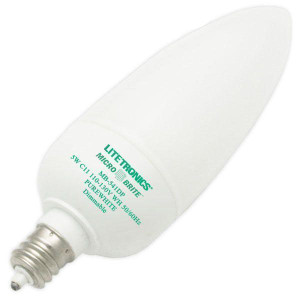 Litetronics Micro Brite MB-541DP 5W C11 Purewhite Dimmable CCFL