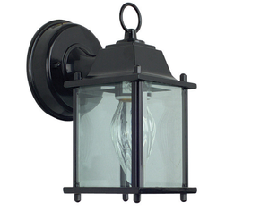 "Sunset F7802-31 Black 1 Light 8.75"" Height Outdoor Wall Sconce"