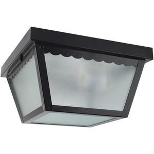 "Sunset F2402-31 Black 2 Light Outdoor 10"" Wide Flush Mount Ceiling Fixture"