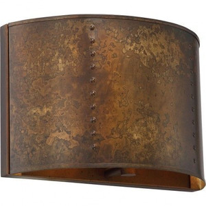 Nuvo Lighting 60-5891 Kettle Weathered Brass 1 Light Wall Sconce With 60w Vintage Lamp Inc.