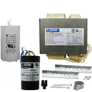 Keystone MPS-200A-Q-KIT 200W M136 Pulse Start MH Ballast 4 Tap