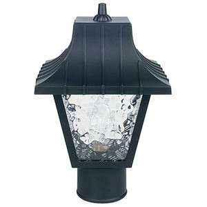 "Sunset F4380-31 Black 1 Light 11.5"" Height Outdoor Post Light"