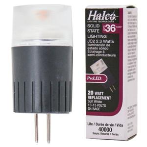 Halco 81108 ProLED JC20/2WW/LED2 2.3W LED JC G4 Base