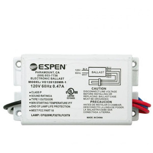 Espen VE126120MR | 1 Lamp 26 Watt CFL PL Electronic Ballast 120V