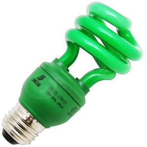 Longstar FE-IIS-13W(G) 13W 120V 60Hz 240mA Green CFL Light Bulb