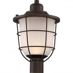 Nuvo 62-945 Mahogany Bronze Post Lantern Fixture