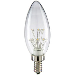 Sunlite 80129-SU CTC/LED/SF/1W/CL/23K 1 Watt 2300K
