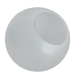 "12"" VC Frost Plastic Light Globe with Neckless Opening"