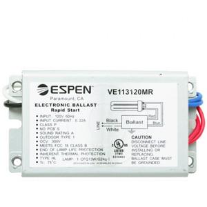 Espen VE113120MR | 1 Lamp 13 Watt CFL Electronic Ballast 120V