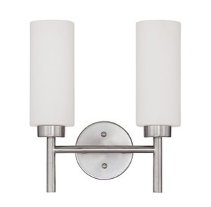 Sunset F2802-80 Rossington Opal Glass 2 Light Vanity Light Sconce Fixture