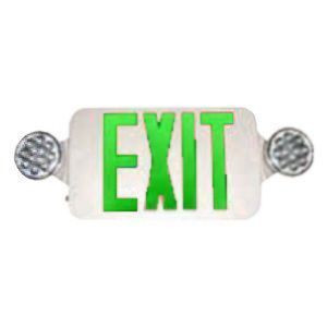 TCP LEDBUGGW LED BugEye Combo Exit/Emergency Sign