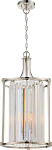 Nuvo Lighting 60-5762 Krys Polished Nickel 4 Light Crystal Foyer Fixture With 60w Vintage Lamps Inc.