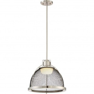 Nuvo Lighting 62-882 Tex Brushed Nickel Large LED Pendant