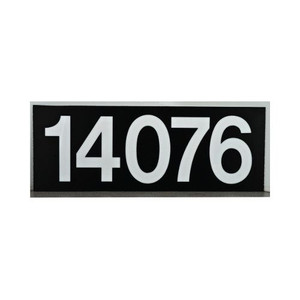 """Sunset K4523 Brown Finish Large Address Panel With 4"""" Numbers"""