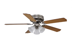 "Sunset CF42147-53 42"" 5-Rosewood/Nude Maple Blades Satin Nickel Rosemount Ceiling Fan with Light Kit"