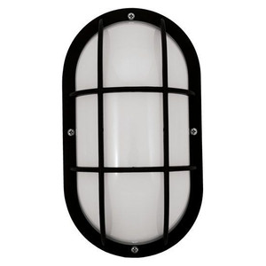 11W LED Black Marine Style Impact Resistant Security Grid Light Fixture 2700K