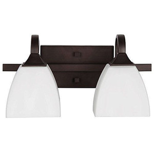Sunset F19012-64 Starling White Frosted Glass 2 Light Vanity Light Sconce Fixture