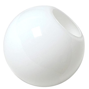 "10"" White Acrylic Lamp Post Fixture Light Globe Neckless 4"" Opening"