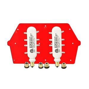 TCP 20720 .7W Two LED Red Exit Sign Retrofit Kit 4 Base