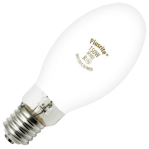 Plusrite MH150/C/U/MED 150W M102 Coated Metal Halide Light Bulb