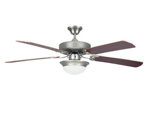 "Sunset CF52831-53 52"" 5-Black Forest/Rosewood Blades Satin Nickel Heritage Fusion Ceiling Fan with Light Kit"