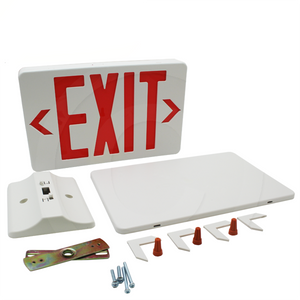 TCP 22743 | Lighted LED Exit Light Sign Red Letter Battery Pack