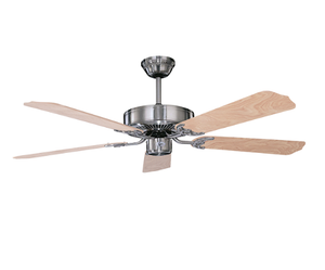 "Sunset CF52242-50 52"" 5-Natural Pine Blades Stainless Steel California Home Dual Mount Ceiling Fan"