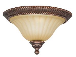 Sunset F5288-61 Graham Sandlewood Glass 2 Light Flush Mount Overhead Light Fixture