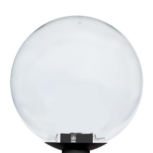"14"" Clear Globe Black Pole Mount Light with Medium Socket"