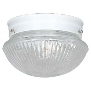 Sunset F6108-30 Clear Prismatic Glass 1 Light Ceiling Mount Overhead Light Fixture