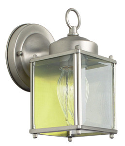 "Sunset F6840-53 Satin Nickel 1 Light 8"" Height Outdoor Wall Sconce"