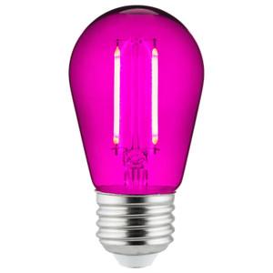 Sunlite 81087-SU S14/LED/FS/2W/TP 2 Watt LED Filament Light Purple