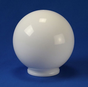 "Replacement White 6"" Outdoor Acrylic Light Globe with 3"" Lip"