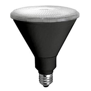 TCP LED17P38D30KWFLB 17W LED Black PAR38 3000K