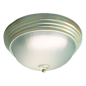 22W LED Decorative Gold Pewter Frosted Ceiling Light 4000K 1
