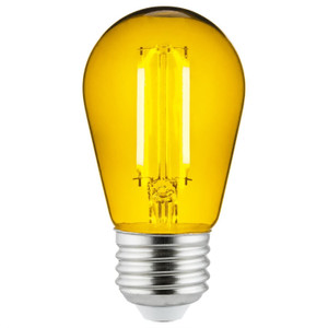 Sunlite 81086-SU S14/LED/FS/2W/TY 2 Watt LED Filament Light Yellow
