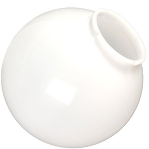 "Replacement White 14"" Outdoor Acrylic Post Globe Cover 6"" Lip"