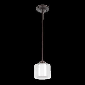 Sunset F17010-64 Abbot White Glass 1 Light Mini Pendant