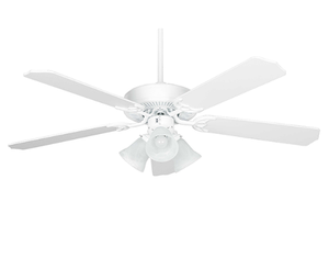 "Sunset CF52836-30-L 52"" 5-White Blades White Heritage Home Ceiling Fan with Light Kit"