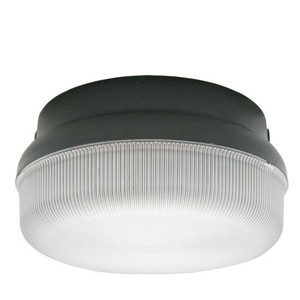 23W LED Round Black Housing Dual Mount Frosted Polycarbonate Light 3000K