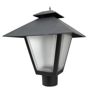 Colonial Post Top Coach Light Black Fixture with Medium Base