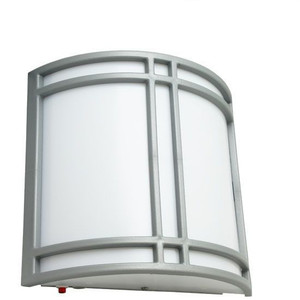 Battery Back-up Wall Sconce Light with Ultra Chrome Finish
