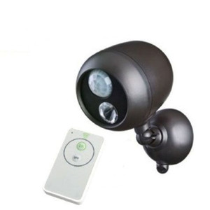 LED Wireless Battery Operated Motion Spotlight Remote Control