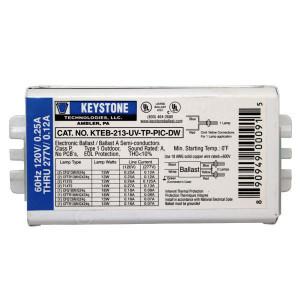 Keystone Electronic Fluorescent Ballast KTEB-213-UV-TP-PIC-DW