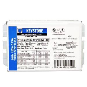 Keystone Compact Electronic Ballast KTEB-242T-UV-TP-PIC-DW/NS