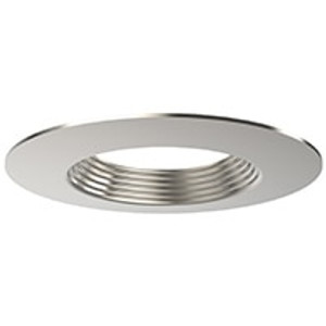 "Halco 99932 ProLED DL6/BN 6"" Brushed Nickel Trim Stepped Baffle"