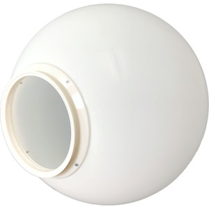 "20"" White Replacement Plastic Light Globe with 8 "" Neck"
